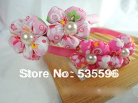 Fahion New Kids/Girl/Princess Double Flora with Pearl hairband/ Mixed color Headwear/hair accessories free shipping