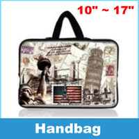 Laptop Sleeve Bag Case Carry Cover Pouch Eiffel tower pattern For 10 to 17 Inch Notebook Laptop PC