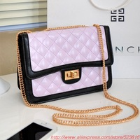2013 new iron chain embroidery Quilted handbag shoulder diagonal packet Korean