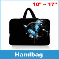 Laptop Sleeve Bag Case Carry Cover Pouch Butterfly part For 10 to 17 Inch Notebook Laptop PC