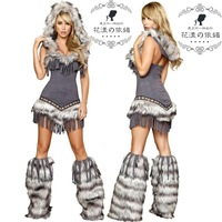 2013 New halloween costume Native americans cosplay women costume dance performance costume