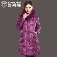Medium-long down coat female fox fur kb1312