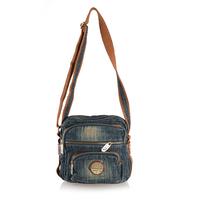 2013 new arrival hot selling denim bag flower jeans bag washed blue women handbag fashion handbag for female p39