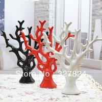 Ceramics modern fashion brief decoration  pachira lucky tree ceramic feng shui crafts home decoration