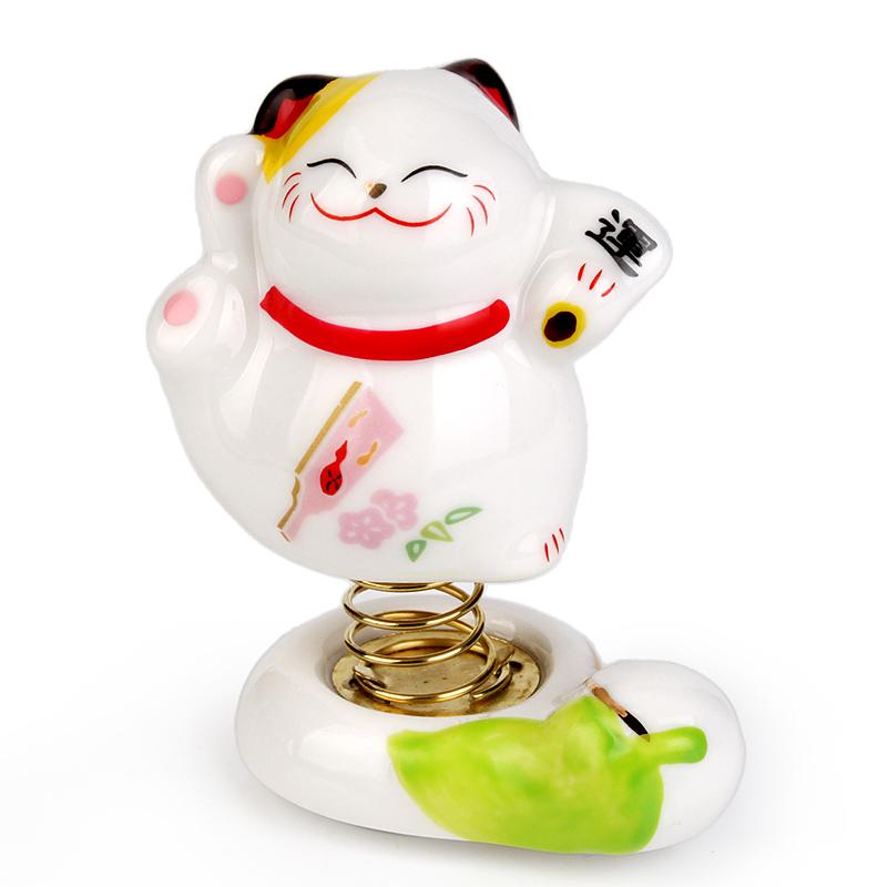 Boneca primavera carro gato de cerâmica cabeça da boneca(China (Mainland))