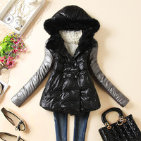 2013 winter cute wadded jacket female short design thickening cotton-padded jacket a cotton-padded jacket loose cloak outerwear