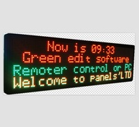 Red+pure Green P7.62 32*128 advertising advertisement led scrolling display panel board screen sign Semi-outdoor/ 1021*289*70mm