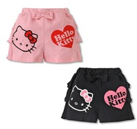 Baby girls shorts pants kids children cotton bow girls KT cat pants 1215 sylvia 1247946718