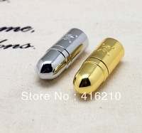 Wholesales Metal Gold Skull Bullet Model Gift USB 2.0 Memory Stick Flash Pen Drive 4GB 8GB 16GB 32GB