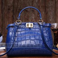 2014 hew peekaboo style women's crocodile pattern leather handbags cross-body shoulder brand bag designer handbag  messenger bag