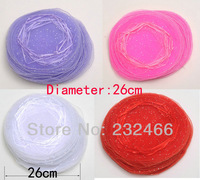 Wholesale Free Shipping Dia. Round Organza Bags 26cm,Drawable Wedding Gift Bags & Pouches,400pcs/lot