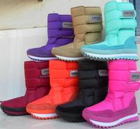 2013 Popular Snow Boots For Women Flat Heel 7 Colors Plus Size Winter Boots Waterproof