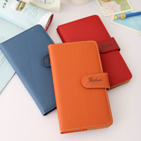 Personalized commercial leather notebook handmade snap button Small notebook