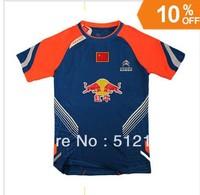 Wholesale Li-Ning Mens 2013 Badminton /Tennis Chinese team national flag Shirt
