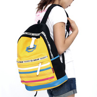 Striped  Shoulder bag Canvas Women Printing Backpack  Preppy Style Fashion Color Block Casual Student School Bag