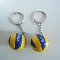 M-I-K-A-S-A !Top beach volleyball PVC 3.7 cm keychain key ring business gifts 3 color