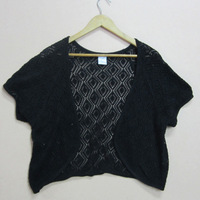 Fashion cotton 100% cotton knitted cutout no good small cape