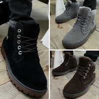 MEN'S WINTER SNOW BOOTS MARTIN BOOTS OUTDOOR COTTON BOOTS LEATHER BOOTS