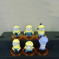 Despicable Me   Base  PVC figure   Set 6 pcs #3