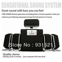 5.1 channel quality stereo great sound with bass you can feel speaker AC plug notebook computer LCD loudspeaker box