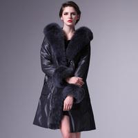 Rara women's slim rabbit fur wool liner large fox fur collar fur coat female fur nick coat 2001