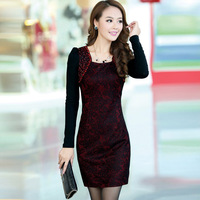 The new women's wear long sleeve dress is manual nail bead dress. Free shipping
