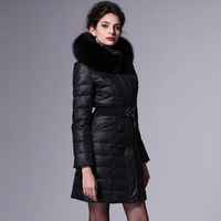 Rara winter slim women's large fox fur medium-long down coat 2009
