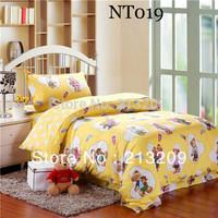 New 2014cartoon twin size 3pcs bedding Set , Children duvet cover set,bed linen/bedspread,pillow case,free shipping