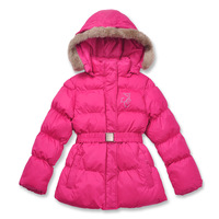 Russia brand export girls winter thickening wadded wind proof jacket kids down & parkas baby outerwear children clothing