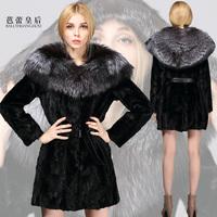 Ballet queen 2013 mink marten overcoat Women leather coat