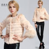 2013 autumn and winter fur coat fox fur rabbit fur slim medium-long female