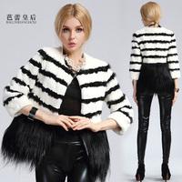 2013 coat female fur rex rabbit hair wool female o-neck short slim design