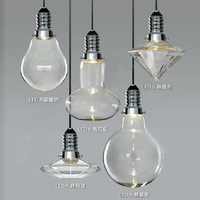 Modern brief bar personalized led3w single head crystal light bulb pendant light