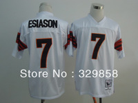 Free Shipping Authentic Throwback American Football Jersey #7 Boomer Esiason Throwback Jerseys Size M-3XL Wholesale Mix Order