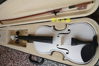 Full handmade white violin decoration .