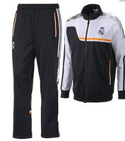 Thai version 13-14 suit real Madrid black/white windbreaker long-sleeved clothes windbreaker suit/free shipping