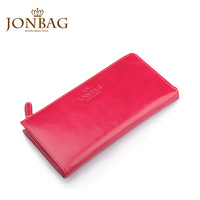 2013 female long design wallet fashion cowhide fashion Wine red bags genuine leather wallet