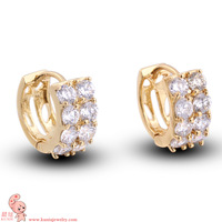 New Arrival latest styleshiningsyones fashion jewelry gold plated earring KUNIU ER0449