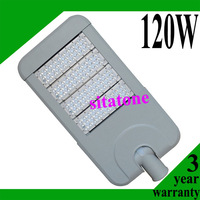3 years warranty free shipping AC85-265V 120W led street light  IP65 130-140LM/W Bridgelux LED 120*1w led street light