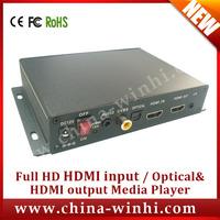Metal shell shopping Full HD Optical button Media Player auto usb box