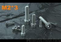2*3 M2*3 DIN912 Stainless steel hex socket cap screw 500pcs/lot Free shipping