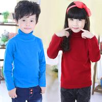 2014 autumn and winter boys girls clothing child clothing turtleneck sweater cardigan sweater my-0130