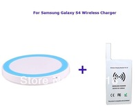 Hot Salingwhite Qi Wireless Charger Transmitter Pad+white  Charger Receiver Charging Receiver  For  Samsung Galaxy S4  IV i9500