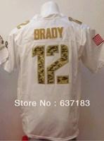 NE New England #12 Tom Brady White Salute To Service American Elite Rugby Football Sports Jersey.embroidery Logo Name.M-XXXL