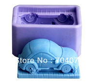 Silicone Salt Sculpture Stereo Car Handmade Soap Mold Chocolate Moulds