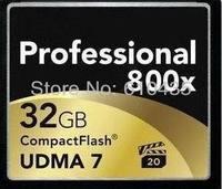 Wholsale 32GB CF card  professional compact flash UDMA 800X free shipping