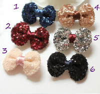 Free Shipping 20pcs baby ribbon bows with clip, Baby Boutique hair bows ,Hairclips,Girls' hair accessories shinny hair bow GH1