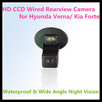 HD CCD car rear view camera for Hyundai Verna(Sedan)/ Kia Forte with 728*582 pixel 170 degree Angle night vision