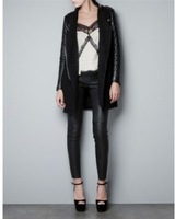 Leather & Suede Cool Casual Autumn 2013  Women Coat Winter PU Leather Jacket For Woman Trenchcoat Brand Jackets Women