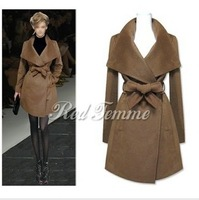 Wool coat autumn and winter 2014 fashion slim wool coat wool cashmere overcoat outerwear female